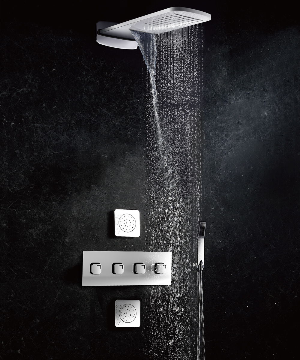 York NX- Designer Wall Mounted Shower